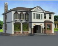 [永云别墅]AT151中式风格独栋二层复式客厅房屋设计图纸15m×13m
