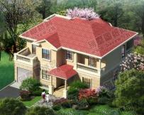 【永云别墅】AT29二层带车库简欧风格漂亮别墅设计全套施工图纸14x14m