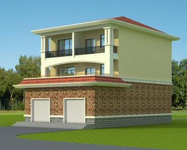 [永云别墅]AT140三层复带门面商铺小别墅设计图纸 9m×15m