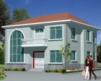 【永云别墅】AT352简约二层复式客厅新农村小别墅图纸11.36m×11m