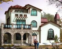 672三层农村住宅小别墅设计图纸14m×15m