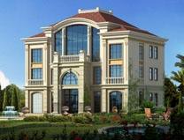 【永云别墅】AT55三层半欧式大气别墅全套建筑施工图纸14m×12m