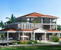永云别墅AT901豪华三层别墅设计建筑及水电全套施工图纸23m×15.39m