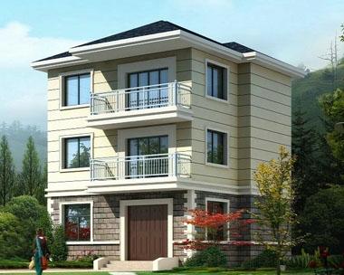【永云别墅AT915】三层带阳台自建房经典别墅设计建筑施工图纸9m×8m