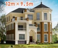 【永云别墅】AT919号欧式大气三层别墅设计图纸12m×10m