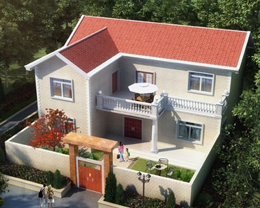 永云别墅AT077二层小康庭院别墅设计全套施工图纸15.5mx13.5m