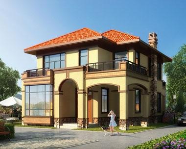 永云别墅AT090二层高端大气欧式别墅全套建筑设计图纸11.2mx16.1m