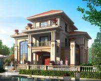 永云别墅AT235三层高端豪华复式楼中楼别墅全套建筑设计图纸15.3mx11.7m