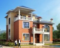 永云别墅AT212三层复式带凉亭露台别墅全套建筑设计图纸12.9mx11.5m