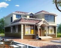 永云别墅AT223二层高端豪华别墅全套建筑设计图纸11.1mx12.6m