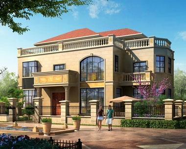 永云别墅AT260二层半带庭院豪华欧式别墅建筑设计全套图纸17.2mx11.2m