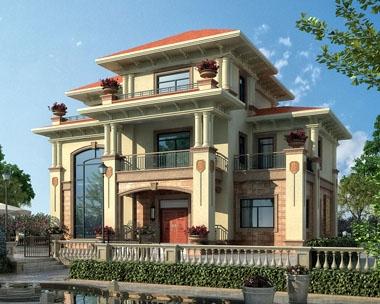 永云别墅AT268三层高端豪华复式楼中楼别墅建筑设计施工图纸15.3mx10m