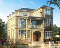 永云别墅AT271三层现代简欧带地下层别墅设计施工图纸10.8mx10m
