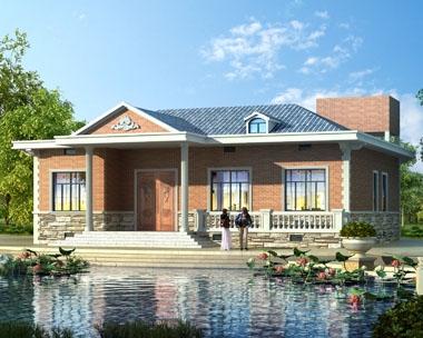 永云别墅AT225一层套房式别墅建筑设计施工图纸15.6mx15m