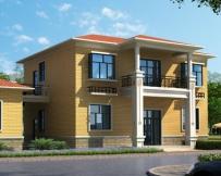 永云别墅AT230二层经济简洁实用别墅设计建筑图纸12.6mx9.6m