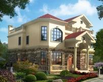 永云别墅AT1623三层简欧风格小别墅设计图纸15mx14m