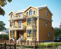 永云别墅AT1626三层带阳台大气欧式别墅设计图纸11.9mx12.3m