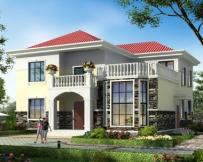 永云别墅AT1645二层简欧复式带露台别墅设计图纸13.2mx14.5m