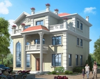 永云别墅AT1646三层带露台高端别墅设计施工图纸12.5mx12.2m