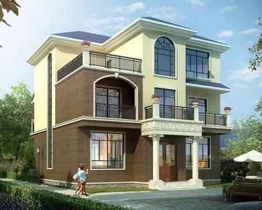 永云别墅AT1673自建实用简洁三层别墅设计施工图纸12mx12.9m