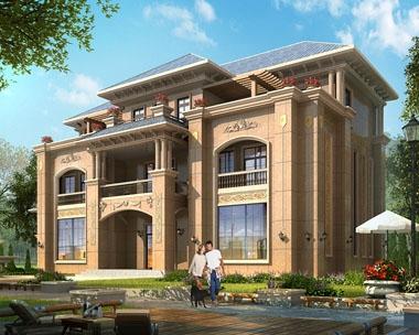 永云别墅AT1678三层干挂石材高端大气别墅建筑设计图纸26mx17.8m