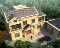 永云别墅AT1689二层简洁实用型小别墅设计图纸15.56mx8.2m