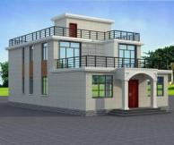 [永云别墅]AT23实用砖混二层平屋顶带露台农村小别墅建筑图纸9m×16m