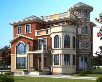 永云别墅AT1698三层私人定制复式楼中楼别墅设计图纸13.9mx14.3m