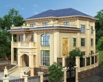 永云别墅AT1699厦门三层豪华定制设计别墅建筑设计图纸15.8x16.1
