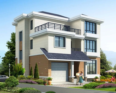 永云别墅AT1691三层简约实用带车库农村别墅设计全套图纸11.4mx11.5m