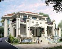 永云别墅AT1718纯欧式豪华双车库复式楼中楼别墅全套设计图纸18.5mx17.5m