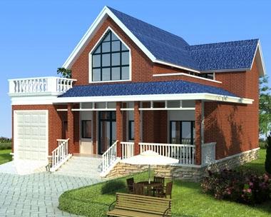 永云AT1722农村自建一层半别墅带车库阁全套图纸13.1mx12.8米