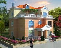 永云别墅AT1725自建实用大方三层别墅建筑设计图纸12mx11.7m