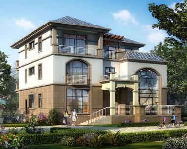 永云别墅AT1731欧亚风格高档复式楼中楼别墅全套设计图纸16.3mx15m