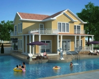 AT1751占地240平米带游泳池二层现代风格别墅设计图纸16.8mx14.7m