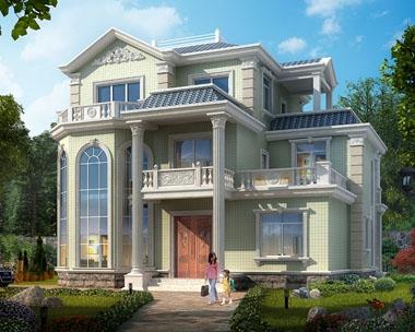 AT1749株洲私人定制三层复式漂亮别墅设计图纸13.2mx11.1m