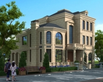 AT1772法式风格三层豪华大气复式楼中楼别墅全套建筑施工图纸12.4mX15.5m