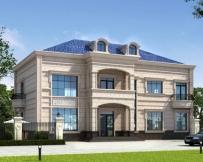 占地230平米AT1773二层大气私人法式风格别墅设计图纸18.2mX11.2m