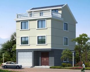 AT1776三层半带车库简洁实用自建房屋全套施工图纸8mX11.2m