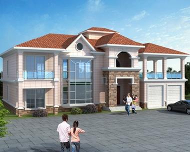 AT1758简洁漂亮二层带双车库复式楼中楼别墅全套施工图纸22.5mX11.9m