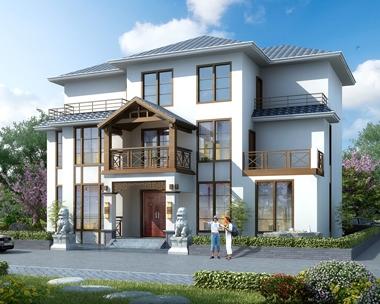 AT1786中式风格三层带局部地下室复式客厅别墅设计施工图纸17mX13.7m