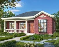 AT1805漂亮的一层带走廊农村小别墅设计房屋施工图纸14mX12米