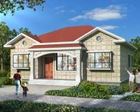 永云别墅AT1806农村自建一层漂亮别墅施工图纸12.7mX11.5m