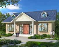 AT1807简洁实用农村一层小别墅设计图纸及外观效果图片14.2mX13.5m