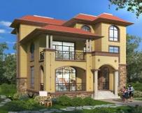 AT1803带休闲走廊屋顶大露台私人豪华别墅设计图纸14.1mX16.2m