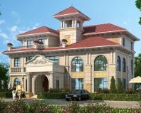 【带装修】AT1813三层豪华大气挂石材欧式复式楼别墅设计图纸20mX18m