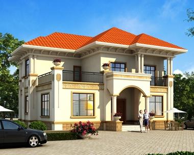 2020年新款AT1831豪华大气二层欧式别墅设计全套施工图纸15mX15m