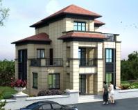 2020新中式风格AT1756漂亮大方三层复式别墅设计图纸11mX11.8m