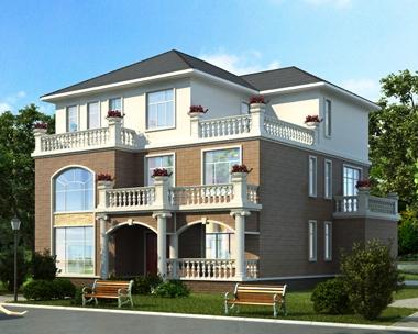 2019新款AT1830新农村简约三层复式别墅全套施工图纸16mX16m