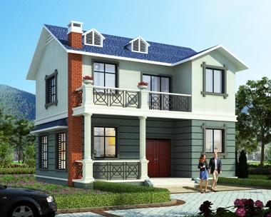 新款AT1845新农村私人二层简约小别墅设计施工图纸10mX9m